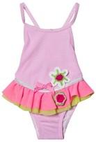 Pate De Sable Pink Douceur Crochet Applique and Frilly Swimsuit