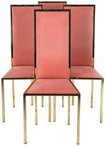 One Kings Lane Vintage Set of Four Italian Mid-Century Chairs - Negrel Antiques - gold/pink