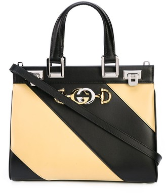 Gucci Zumi diagonal stripe top handle bag