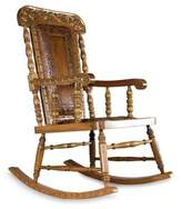 Colonial Wood Leather Chair, 'Royal Colonial'
