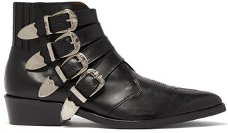 Toga Virilis Buckled Leather Ankle Boots - Mens - Black