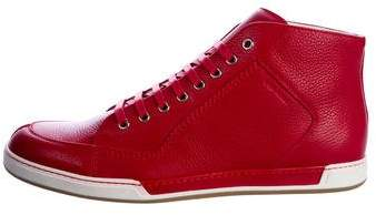 Christian Dior Leather High-Top Sneakers w/ Tags