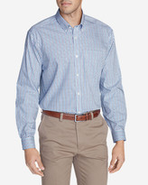 Eddie Bauer Men's Wrinkle-Free Relaxed Fit Pinpoint Oxford Shirt - Blues