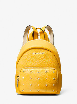 MICHAEL Michael Kors MK Erin Small Studded Leather Convertible Backpack - Taxi - Michael Kors