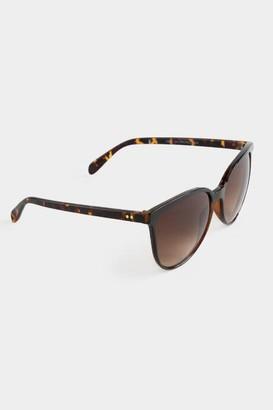 francesca's Aria Cat Eye Sunglasses - Tortoise