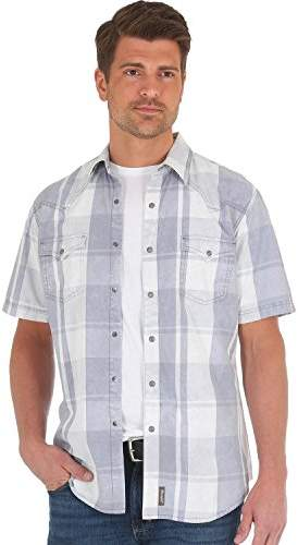 Wrangler Men's Retro Premium Short Sleeve Snap Front Shirt