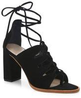 Loeffler Randall Helene Lace-Up Split Suede Sandals