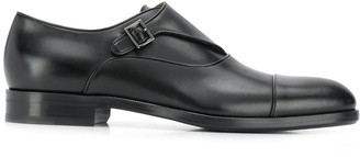 BOSS single-buckle monk shoes