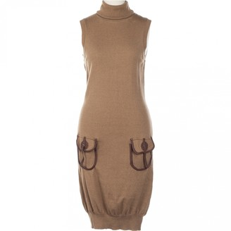 Galliano Brown Wool Dress for Women