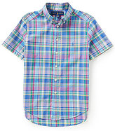 Ralph Lauren Little Boys 2T-7 Madras-Plaid Short-Sleeve Poplin Shirt
