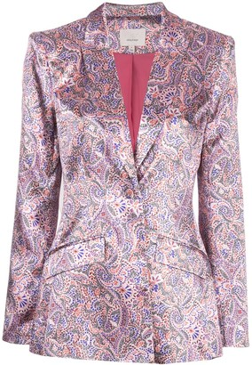 Cinq à Sept Estelle printed satin blazer