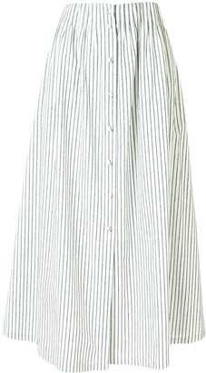 By Any Other Name Striped Flared Midi Skirt