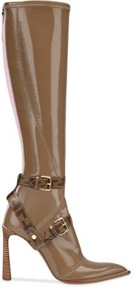 Fendi FF motif cage detail boots
