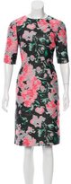 Erdem Delilah Print Jacquard Dress
