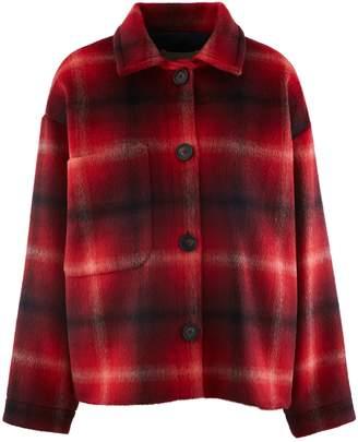 Vanessa Bruno Wool checked Marti jacket