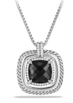 David Yurman Chatelaine Pave Bezel Necklace with Black Onyx and Diamonds