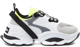 DSQUARED2 Dsq2 Multicolor Nylon & Leather Sneaker