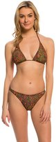 Solar Tan Thru Paisley Triangle Halter TwoPiece Swimsuit Set - 8139416