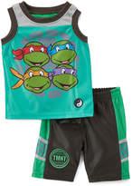 Children's Apparel Network TMNT Green Tank & Shorts - Infant, Toddler & Boys