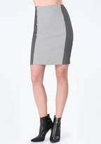Bebe Gingham Block Pencil Skirt