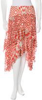 Preen Silk-Blend Printed Skirt