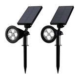 Pure Garden Solar Panel Landscape Lights
