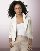 Newport News Gorgeous cropped leather jacket