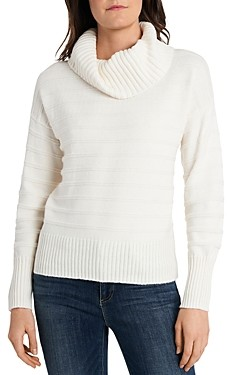 Vince Camuto Ribbed Cowl Neck Sweater