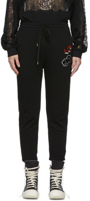 McQ Black Sequin Embroidered Lounge Pants