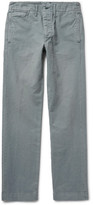 RRL - Officer's Slim-Fit Garment-Dyed Herringbone Cotton Trousers