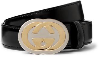 Gucci 3cm Black Leather Belt