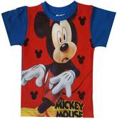 Disney Boys Mickey Mouse Print Light Blue Top T-Shirt Age