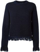 Proenza Schouler fringed jumper - women - Cotton/Nylon/Wool - M