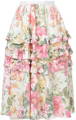 Bambah Lotus Print Skirt