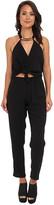 T-Bags LosAngeles Tbags Los Angeles Woven Convertible Jumpsuit w/ Black/Gold Neck Piece
