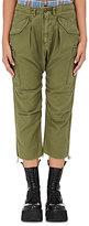 R 13 Women's Slub-Weave Cargo Harem Pants-DARK GREEN