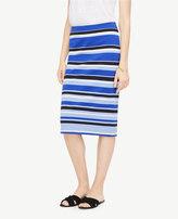 Ann Taylor Striped Ponte Pencil Skirt