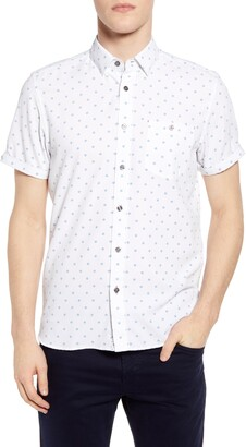 Ted Baker Slim Fit No Chip Short Sleeve Button-Up Shirt