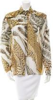 Emilio Pucci Printed Sheer Top