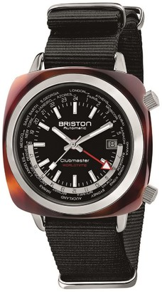 Briston Clubmaster Traveler Worldtime Gmt Acetate, Black Dial Limited Edition