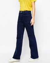 Weekday Flare Jeans With Pocket Detail