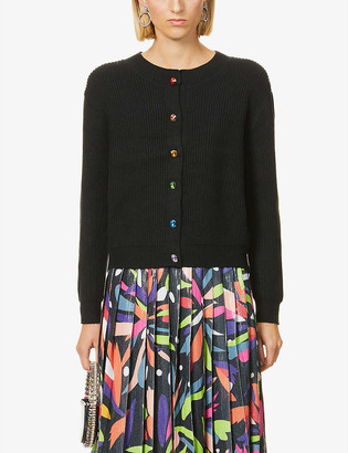 Olivia Rubin Dee rainbow-button knitted cardigan
