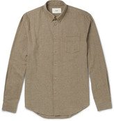 Folk - Slim-fit Button-down Collar Brushed-cotton Twill Shirt