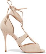 Schutz Clove lace-up suede sandals