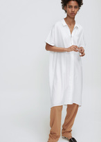 Won Hundred white kaira zip shirt dress
