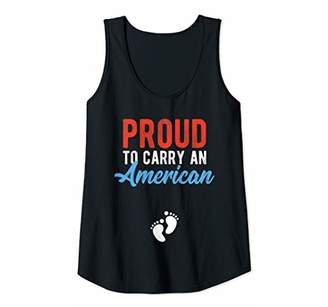 Womens 4th Of July Pregnancy Shirt Proud To Carry An American Tank Top
