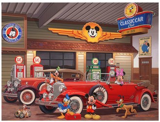 Disney ''Mickey's Classic Car Club'' Gallery Wrapped Canvas by Manuel Hernandez Limited Edition