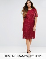 Truly You Premium Lace Overlay Shift Dress