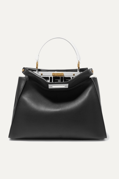 Fendi Peekaboo Leather Tote - Black