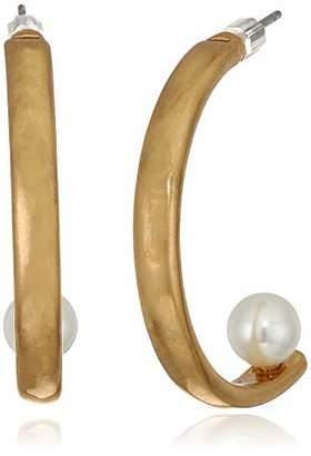 The SAK Women's Half Hoop Earrings with Pearl
